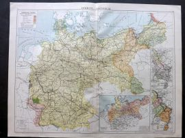 Gross 1920 Large Map. Germany - Historical